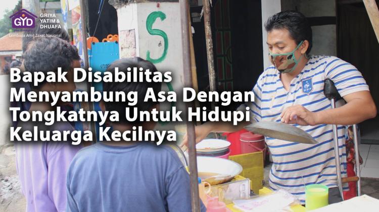 Banner program Menyambung Asa Bapak Disabilitas