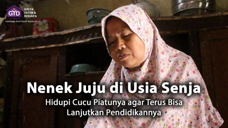 Banner program Bantu Nenek berjuang untuk cucu piatunya