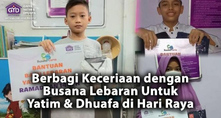 Banner program Baju Lebaran Untuk Keceriaan 30.000 Yatim Dhuafa