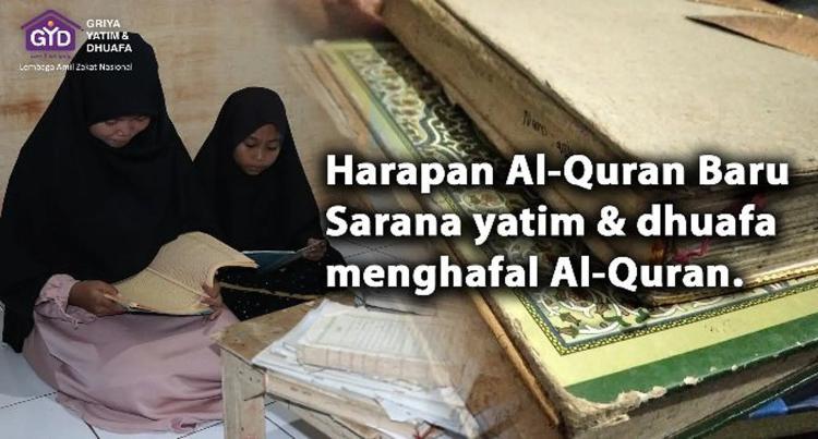 Banner program Sedekah 10.000 Al-Quran Untuk Santri di Bogor