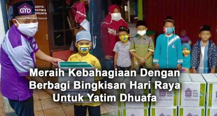 Banner program Bingkisan Lebaran, Hadirkan Bahagia Yatim Dhuafa