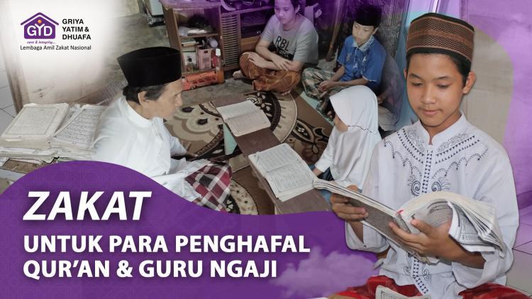 Banner program Zakat Untuk Penghafal Quran dan Guru Ngaji
