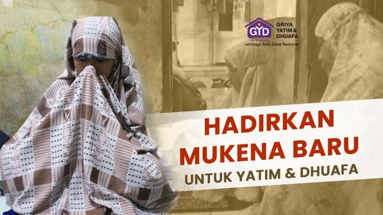 Banner program Pahala Mengalir, Wakaf Mukena untuk Yatim dan Dhuafa