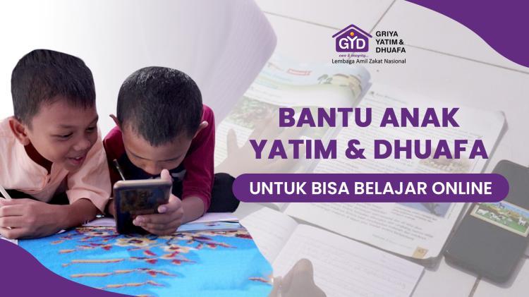Banner program Bantu Ratusan Anak Yatim dan Dhuafa Bisa Belajar Online