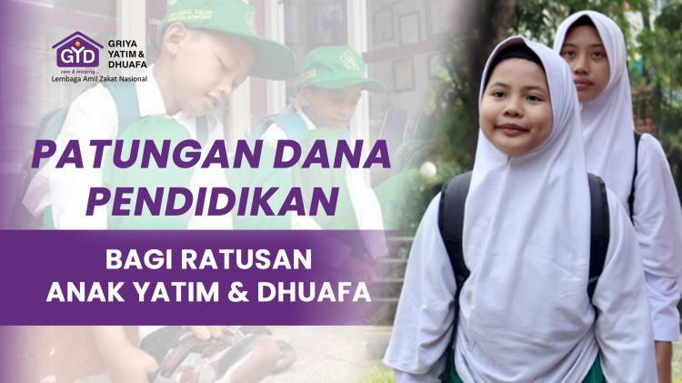Banner program Bantu Pendidikan Yatim dan Dhuafa