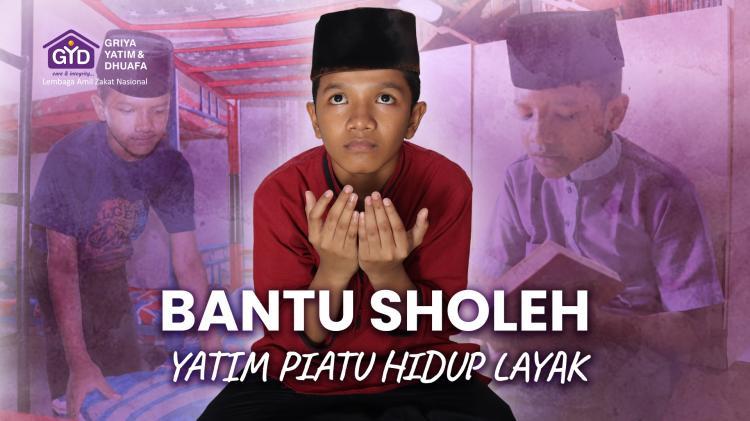 Banner program Bantu Shaleh Yatim Piatu Hidup Layak