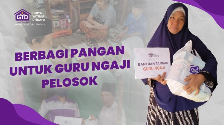 Banner program Berbagi Pangan Untuk Guru Ngaji Pelosok