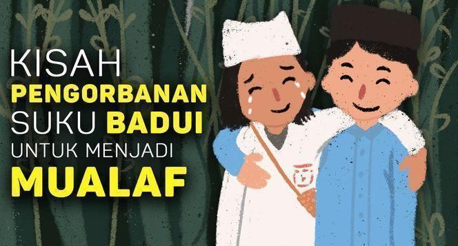 Banner program Tempat Tinggal untuk 800 Warga Mualaf Badui