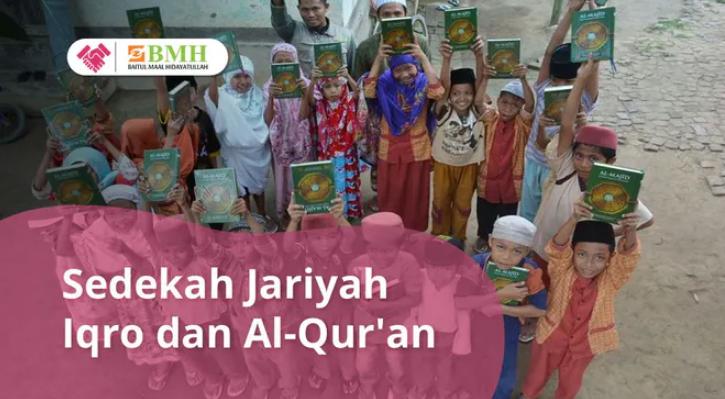Banner program Sedekah Iqro  Quran untuk Suku Muslim Pedalaman