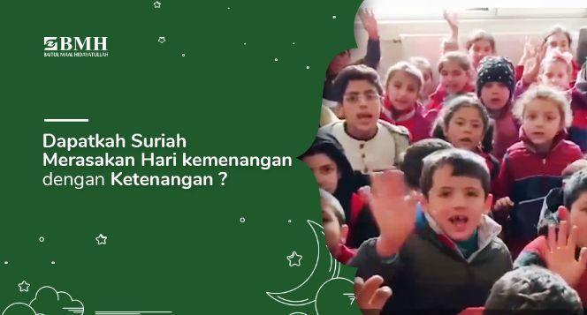 Banner program Rayakan Lebaran Bersama Anak Yatim Suriah