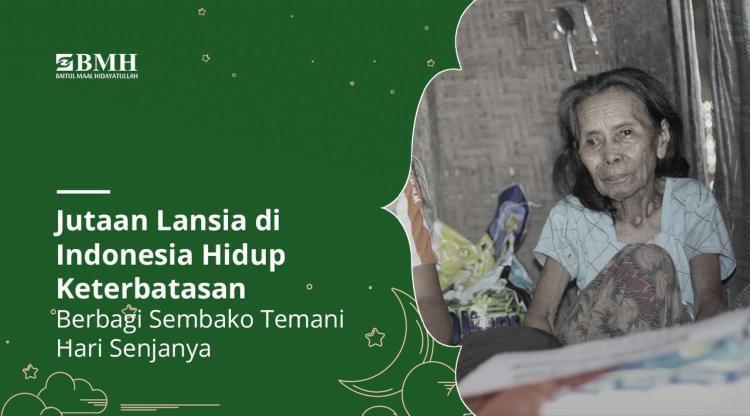 Banner program Bagikan Beras Cegah Kelaparan Lansia Dhuafa