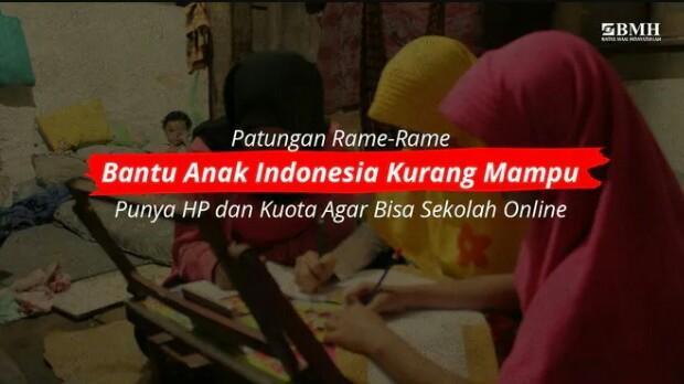 Banner program Bantu Salina Sekolah di Masa Pandemi