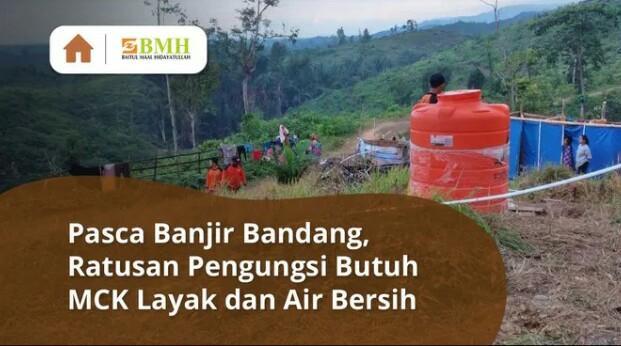 Banner program Sedekah Air Bersih untuk Korban Banjir Masamba
