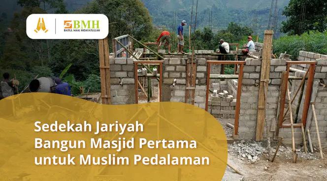 Banner program Wujudkan Masjid Pertama untuk Muslim Bukit Talun