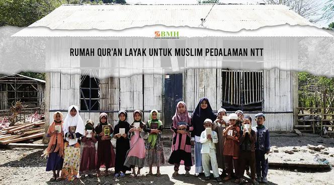 Banner program Bangun Rumah Quran Layak di Pedalaman NTT