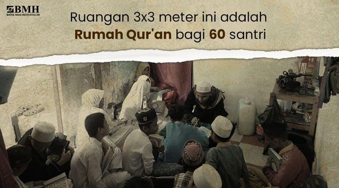 Banner program Bantu Dai Kampung Nelayan Bangun Rumah Quran