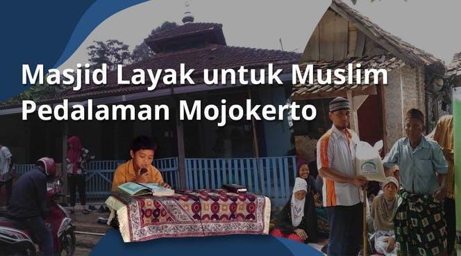 Banner program Bangun Kembali Masjid Pedalaman Mojokerto