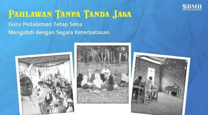 Banner program Bantu Ringankan Perekonomian Para Guru Pedalaman