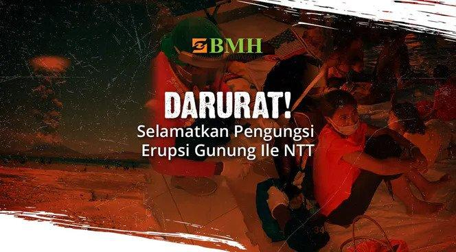 Banner program Bantu Ribuan Korban Erupsi Gunung Ile NTT