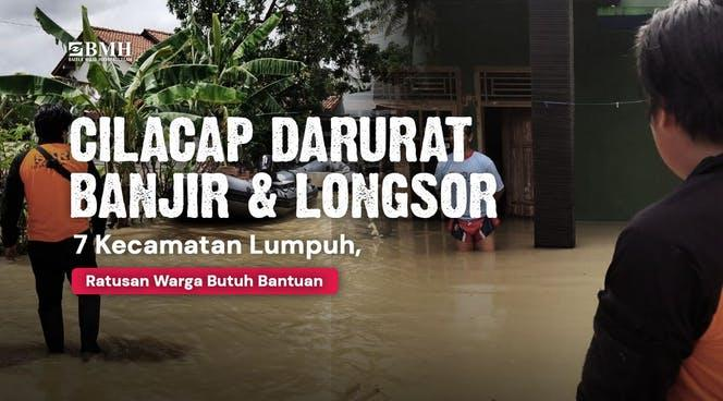 Banner program Bantuan untuk Korban Banjir Cilacap