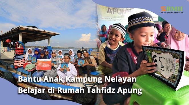 Banner program Jembatan Layak untuk Rumah Tahfidz Apung