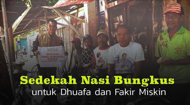 Banner program Sedekah 1.000 Nasi Bungkus untuk Dhuafa