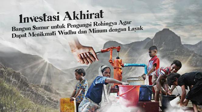 Banner program Bangun Sumur di Rohingya jadi SAKSI Amal Jariyahmu