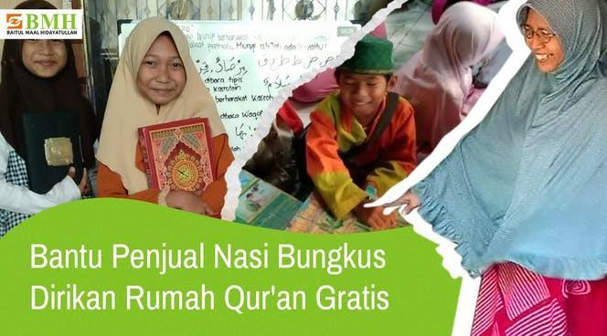 Banner program Bantu Penjual Nasi Bungkus Dirikan Rumah Quran