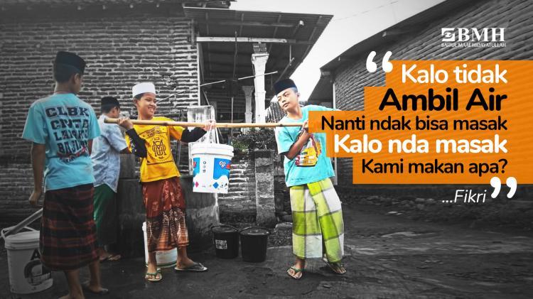 Banner program Bangun Sumur untuk Santri Probolinggo
