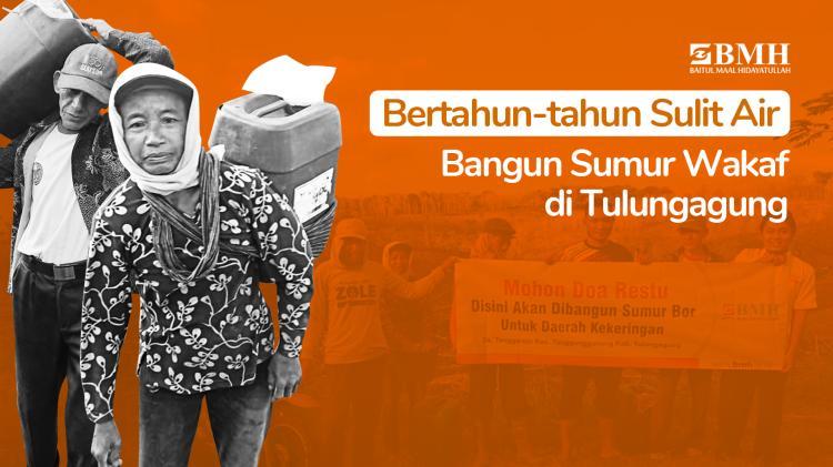 Banner program Sedekah Jariyah Air Bersih di Pelosok Tulungagung
