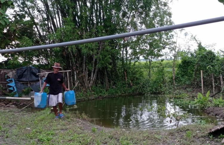 Banner program Bantu Bangun Sumur Bor untuk Warga Desa Krangkong