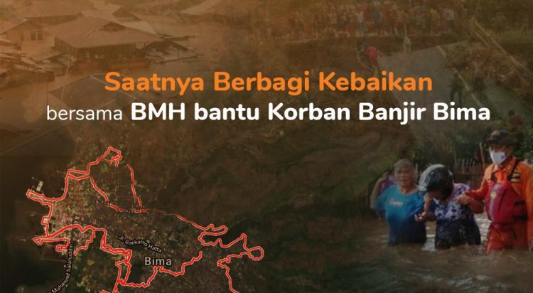 Banner program Bantu Korban Banjir di Bima