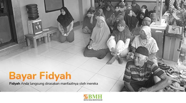Banner program Bayar Fidyah Puasa, Berbagi Makanan untuk Dhuafa