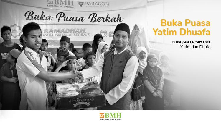 Banner program Berbuka Puasa dengan Anak Yatim Dhuafa