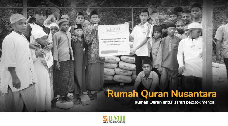 Banner program Bangun Rumah Quran untuk Muslim Pedalaman