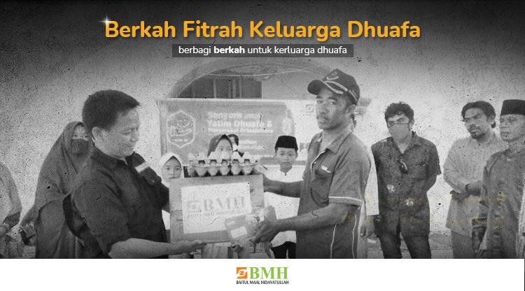 Banner program Kirimkan Berkah Fitrah untuk 125.000 Muslim Dhuafa