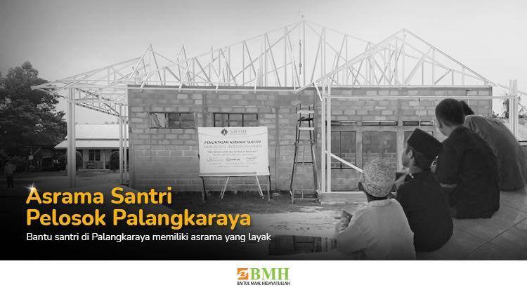 Banner program Bantu 24 santri memiliki asrama yang layak