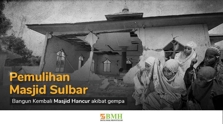 Banner program Bangun Kembali Masjid yang Hancur Akibat Gempa Sulbar