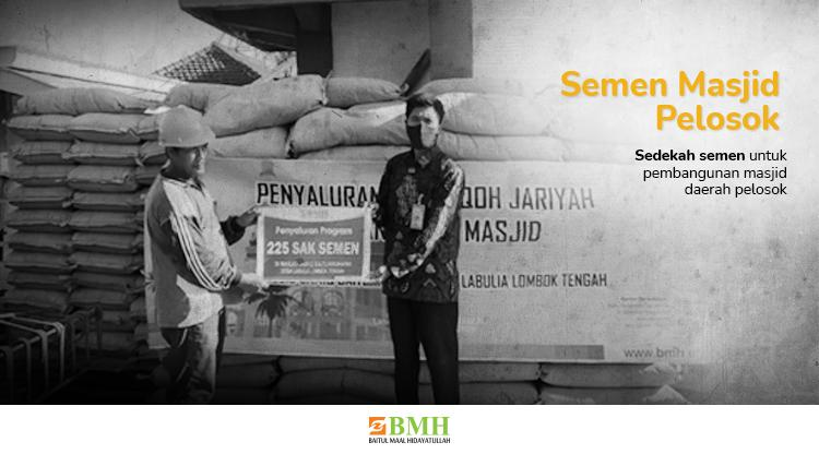 Banner program Tebar Kebaikan Dengan Patungan Semen untuk Masjid