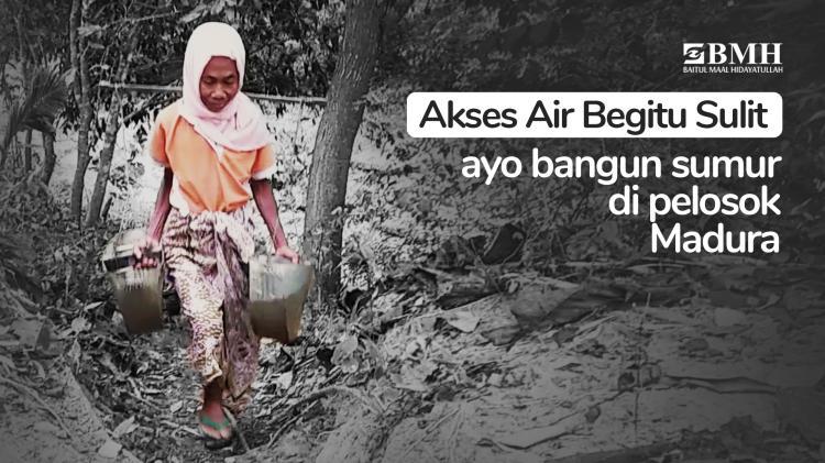 Banner program Bantu Krisis air bersih di Pulau Madura