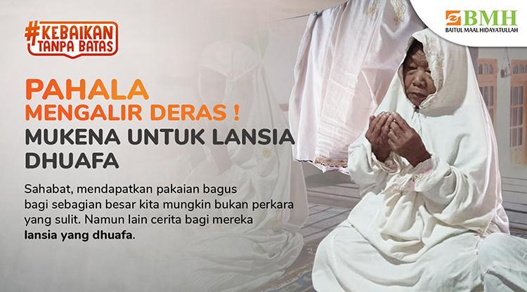 Banner program Sedekah Perlengkapan Beribadah untuk Dhuafa