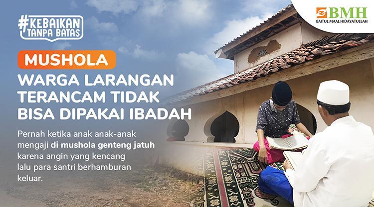 Banner program Mushola Pedalaman Madura Terancam Rubuh
