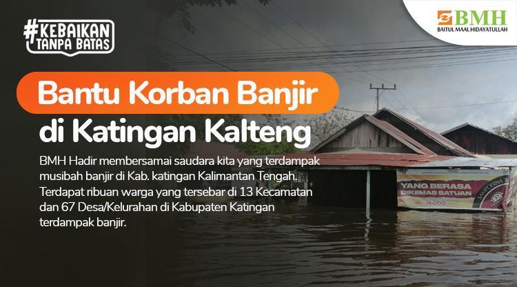 Banner program Bantu Korban Banjir di Katingan Kalteng