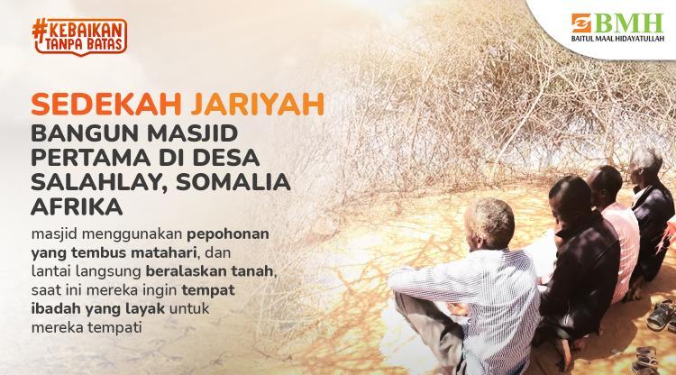 Banner program Sedekah Jariyah Bangun Masjid pertama di Afrika