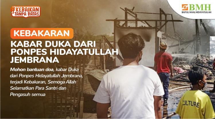 Banner program Bantuan untuk Santri Terdampak Kebakaran
