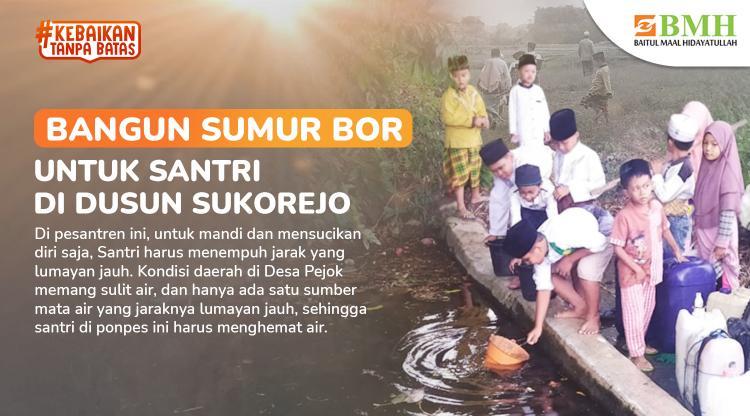 Banner program Tabungan Akhirat, Bangun Sumur Bor di Dusun Sukorejo