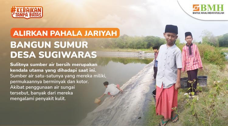 Banner program Alirkan Pahala Jariyah Bangun Sumur Desa Sugiwaras