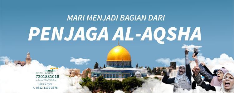 Banner program Donasi untuk Penjaga Masjid Al-Aqsa