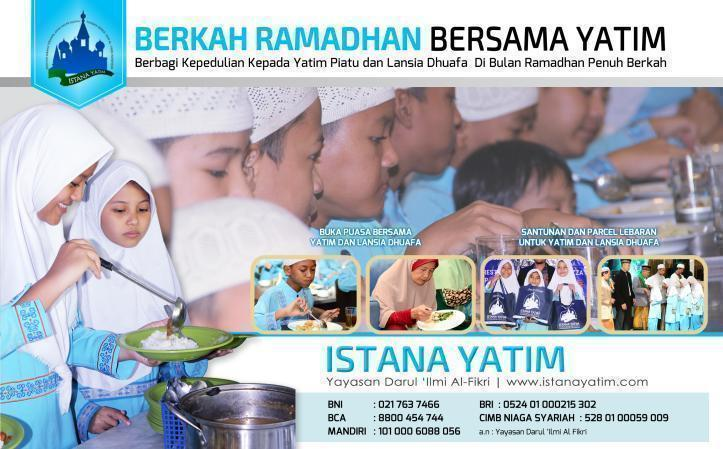 Gambar banner Berkah Ramadhan Bersama Yatim Piatu dan Lansia Dhuafa