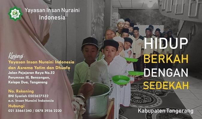 Banner program Donasi untuk Anak Yatim dan Kaum Dhuafa Pondok Yatim Nuraini